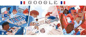 Sunday's Google Doodle Celebrates the World Cup Final