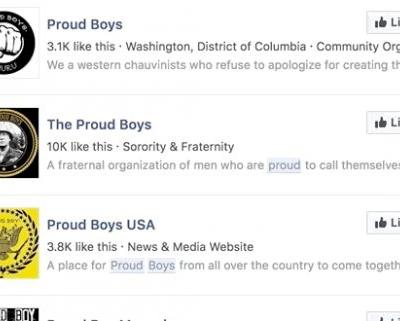 Facebook is the recruiting tool of choice for far-right group the Proud Boys