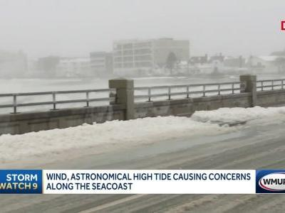 Wind, astronomical high tide cause concerns at coast