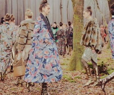 Karl Lagerfeld led us on a walk through the forest at Chanel AW18