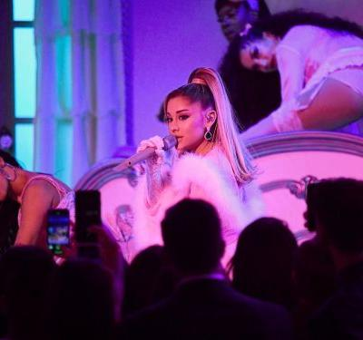 Watch Ariana Grande pay tribute to her broken engagement during her show-stopping Grammys performance