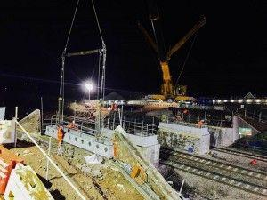 Triple Bridge Demolition Work Completed In Monmouthshire As Preparation For Railway Electrification