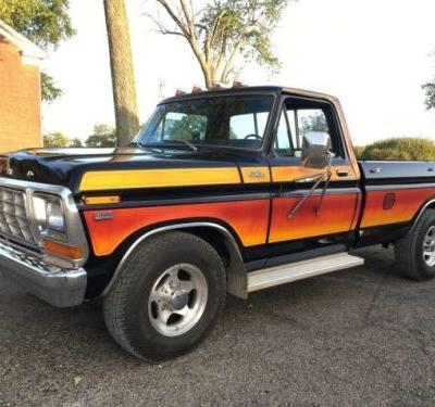 At $14,500, Would You Ride Off Into The Sunset In This Colorfully Striped 1979 Ford F-250?