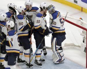 Road warrior Blues unfazed by Cup Final Game 7 in Boston