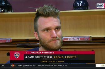 Jonathan Huberdeau highlights contributions from each line in 6-1 win over Kings