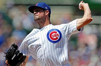 Cole Hamels returns from injury, striking out six in five scoreless innings in 6-2 win over Brewers