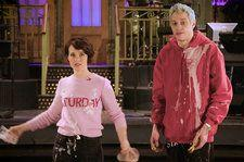 Pete Davidson Preps First-Time 'SNL' Host Claire Foy With Messy 'Tradition': Watch