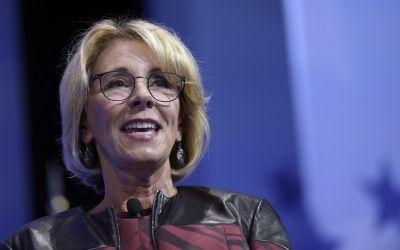 Betsy DeVos says First Amendment rights are being threatened on college campuses
