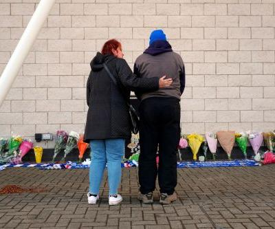 Flowers, wreaths laid at Leicester after helicopter crash
