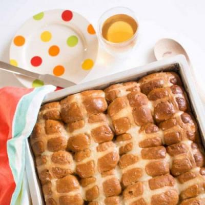 Lightly lemony hot cross buns