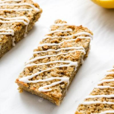Lemon Poppy Seed Oat Bars