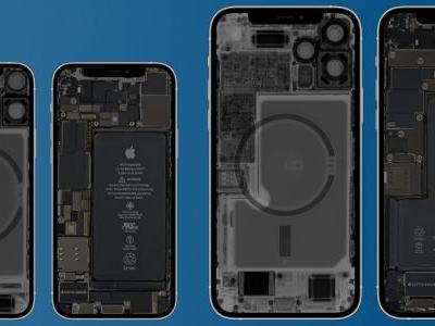 Peek inside your new iPhone 12 mini and iPhone 12 Pro Max with iFixit's X-ray wallpapers