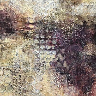 """Contemporary Art, Abstract Painting, Expressionism, Mixed Media, """"KEEPING PACE"""" by Contemporary Artist Liz Thoresen"""