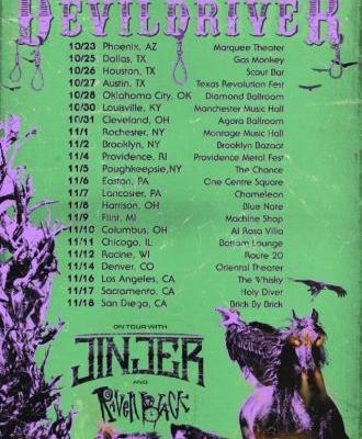 DEVILDRIVER Announces 'Outlaws 'Til The End' U.S. Tour With JINJER And RAVEN BLACK
