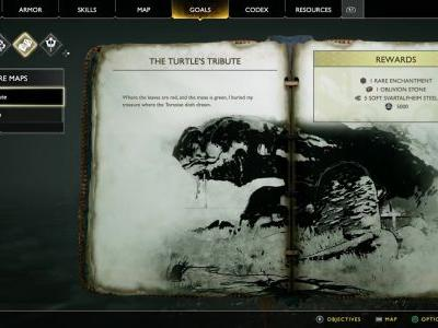 The Turtle's Tribute Treasure Map Location and Solution - God of War