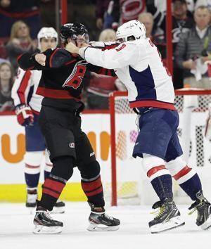 Ovechkin injures Carolina's Svechnikov with punch to face