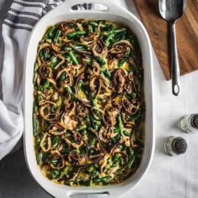 GF Cheesy Green Bean Casserole
