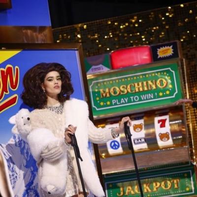 Moschino AW19 was an uber-kitschy, glittering game show extravaganza
