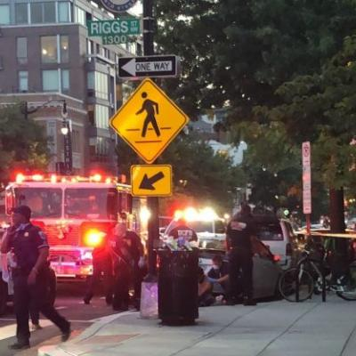 BREAKING: Multiple People Shot Along One of DC's Busiest Streets, Prompting Diners to Flee Area Restaurants