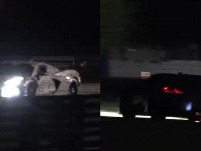 Watch The Mid-Engined Corvette Racer Light Up The Night Sky