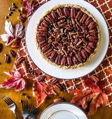 Vegan Double Chocolate Pecan Pie