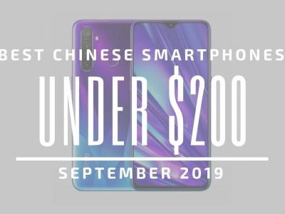 Top 5 Chinese Smartphones for Under $200 - September 2019