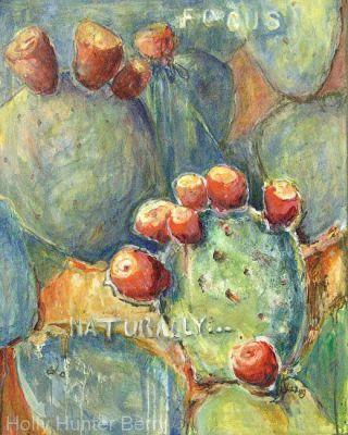 """Abstracted Botanical Acrylic Art Painting, """"Naturally"""" by Passionate Purposeful Painter Holly Hunter Berry"""