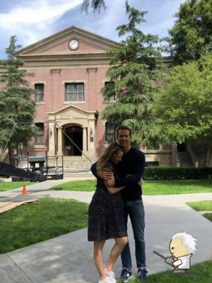 Expectant Parents Blake Lively and Ryan Reynolds Cuddle Up on Set, and Wow, We're Melting