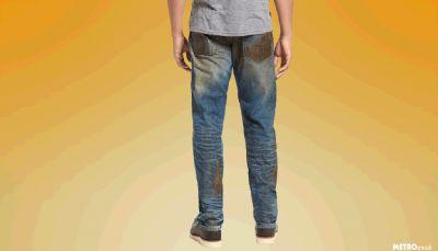 You can now buy jeans that look like they're covered in mud for the low, low price of £330