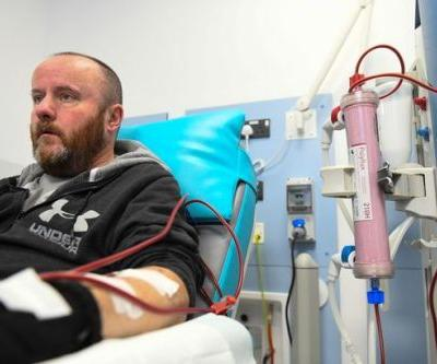This man has to spend three hours in hospital, three times a week, every week, or he will die