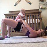 Watch This Mom Crush Her At-Home Workouts - With a Little Help From Her Baby