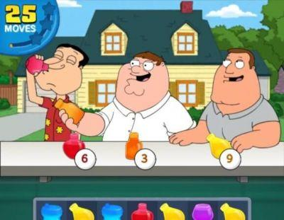 Family Guy: Another Freakin' Mobile Game attempts to bring the show's humor to the match-3 field