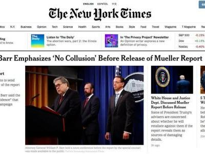 Mainstream news outlets fall for the White House's spin of the Mueller report. Again