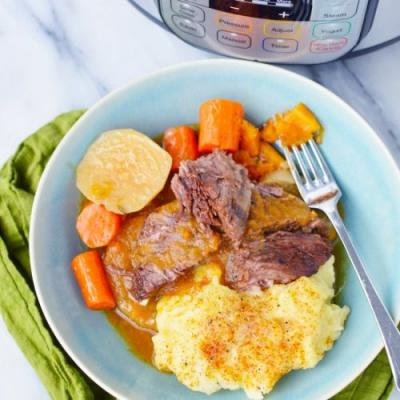 Instant Pot Short Ribs with Roots