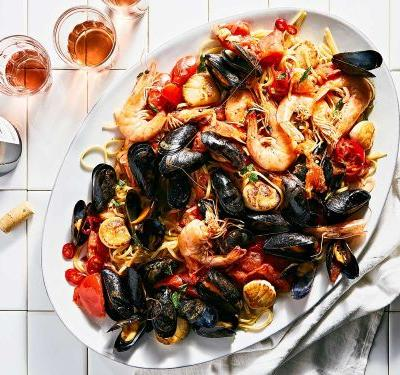 This Seafood Pasta Is the Be-All, End-All Supper for a Crowd