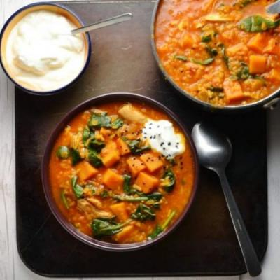 Sweet Potato Mulligatawny Soup