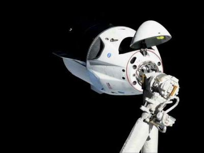 Space Station Celebrates 'A New Era' In Exploration With Arrival Of SpaceX Capsule