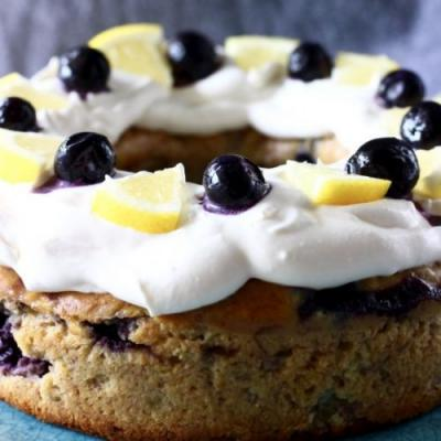 Vegan Lemon Blueberry Bundt Cake