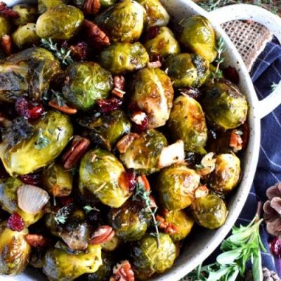 Whole Roasted Brussels Sprouts