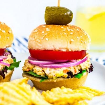 Canned Chickpea Salad Sandwich