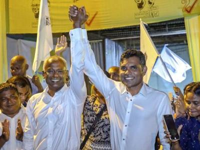 Maldives' provisional elections results show opposition win