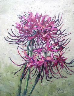 Spider Lily, New Contemporary Painting by Sheri Jones