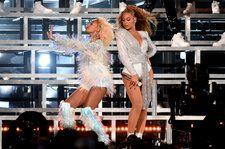 Beyonce & Solange Hilariously Tumble During Coachella Dance Break: Watch