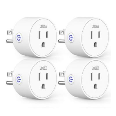 Save on smart with $8 off this Zoozee Smart Plug 4-Pack
