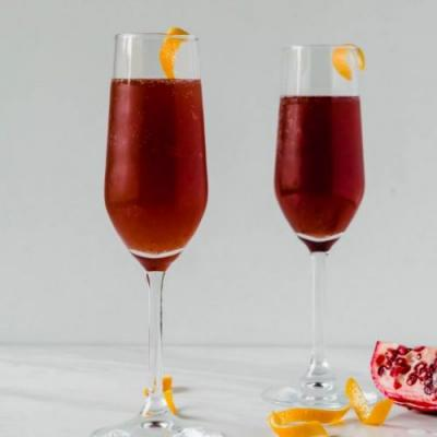Pomegranate Sage French 75
