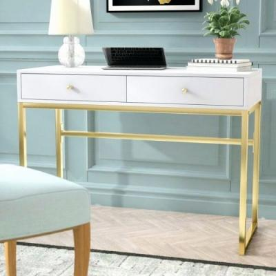 20 Luxury White Writing Desk with Drawers Pics