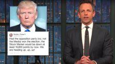 Seth Meyers Ridicules Donald Trump Over Continued Obsession With Hillary Clinton