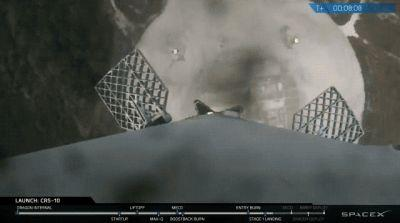 SpaceX successfully lands its first-stage Falcon 9 rocket at Cape Canaveral