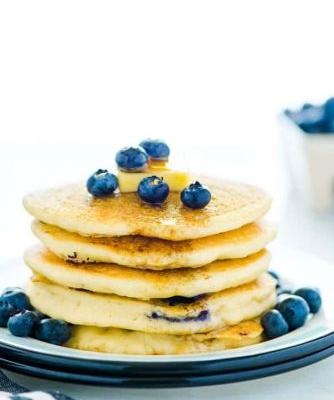 Fluffy Gluten Free Blueberry Pancakes