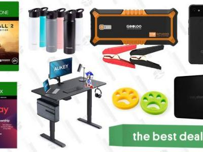 Wednesday's Best Deals: Google Pixel 3, EA Play, Titanfall 2, Gooloo 4000A Jump Starter, Aukey Electric Standing Desk, Pacifica Skincare Sale, and More